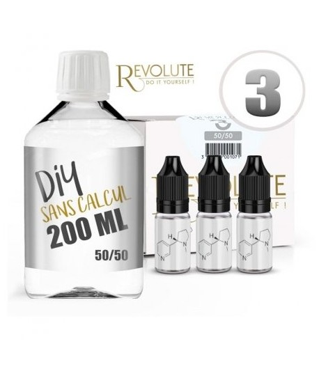 Pack 200 ml Base DIY 50/50 Revolute